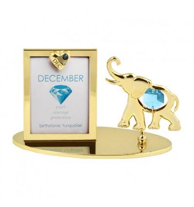 Rama foto Piatra norocoasa Decembrie cu cristale Swarovski