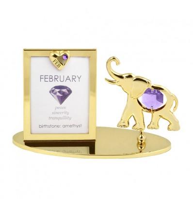 Rama foto Piatra norocoasa Februarie cu cristale Swarovski