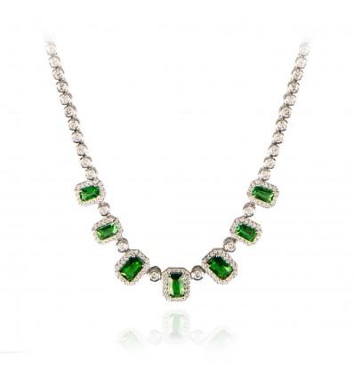 """Colier cu cristale Swarovski """"Emerald Brilliance"""" - PARURE Milano"""