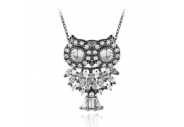 "Colier cu cristale Swarovski ""Crystallized Owl-Black"" - PARURE Milano"
