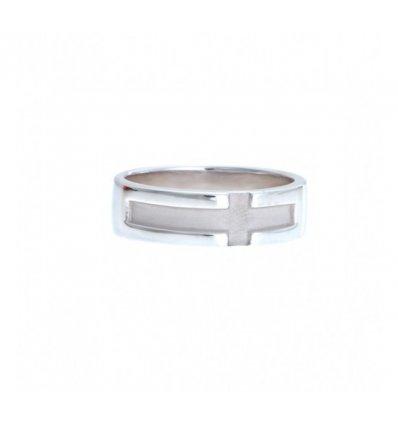 Inel Din Argint Rodiat Design Simplu Elegant Si Clasic