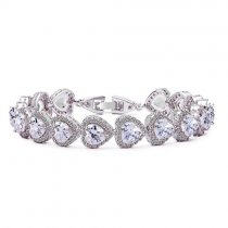 "Bratara cu cristale Swarovski ""Heart Shaped Simulated Diamonds"""