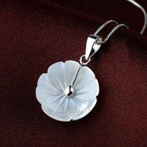 """Pandantiv din argint 925 cu sidef """"Anemone"""""""