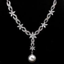 """Colier cu perla si cristale Swarovski """"Precious Blossom"""""""