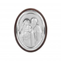 Icoana argintata cu Sacra Familia