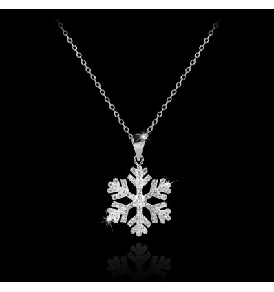 "Colier din argint  ""White Christmas Crystal Diamonds"""
