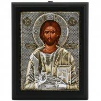 Icoana cu Iisus Hristos lucrata in argint