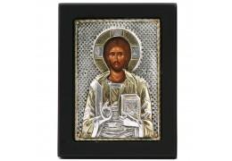 Icoana lucrata in argint cu Iisus Hristos