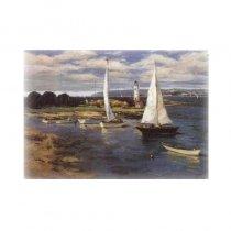 Peisaj din port - tablou pe sevalet