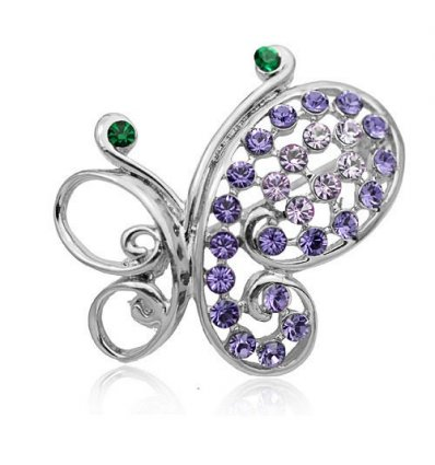 Brosa Crystal Glamour Butterfly