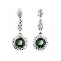 Cercei candelabru cu cristale - Emerald Drops