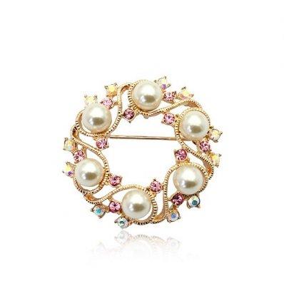 """Brosa cu cristale austriece si perle """"Scarlett"""""""