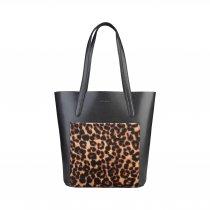 Geanta de umar din piele naturala Trinidad Leopard - COCCINELLE