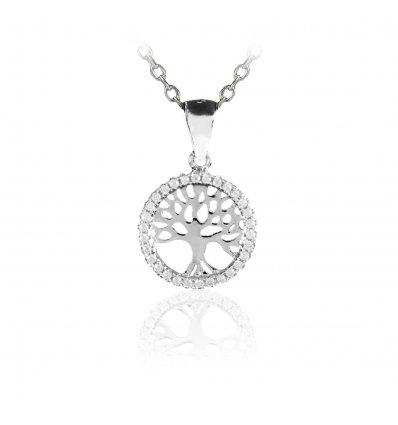 """Colier din argint 925 cu cristale """"Tree Of Life"""""""