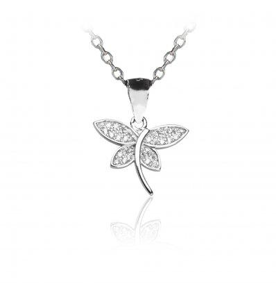 "Colier din argint 925 cu cristale ""Butterfly Embrace"""