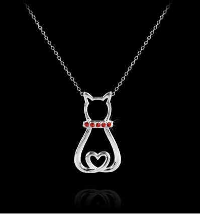 Martisor pandantiv din argint 925 My Ruby Kitty