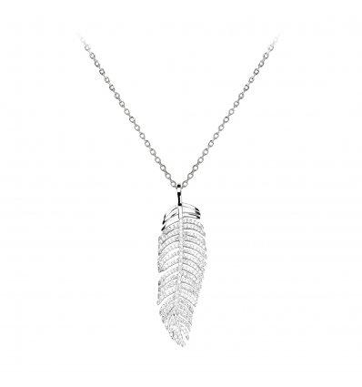 """Colier din argint 925 cu cristale """"Precious Leaf"""""""