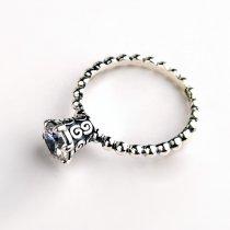 """Inel din argint 925 cu cristal zirconia """"Vintage Roung Glow"""""""