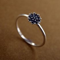 "Inel din argint 925 ""Antique Flower"""