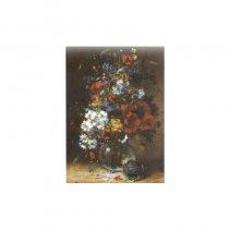 Vaza cu flori de gradina - tablou pe sevalet