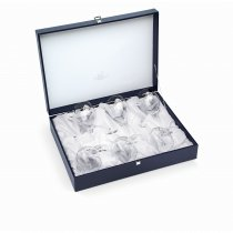 "Set de 6 pahare pentru vin ""Arabesque White Gold"" by Chinelli Italy"