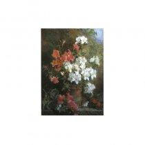 Ghiveci cu flori - tablou pe sevalet