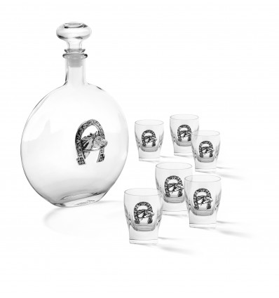 """Sticla de vodca cu 6 pahare """"Luck"""" by Chinelli Italy"""