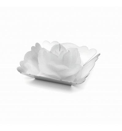 "Suport argintat pentru candela ""Silver Rose"" by Chinelli Italy"