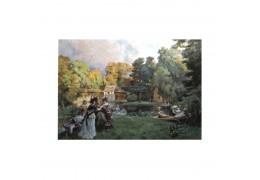 Plimbare pe malul lacului - tablou pe sevalet