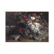 Un colt de gradina - tablou pe sevalet