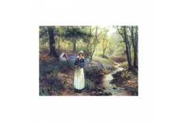 La cules de floricele - tablou pe sevalet