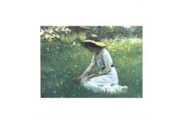 Fata din iarba - tablou pe sevalet